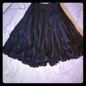 Guess Jean's Black Ruffle Skirt Size Sm